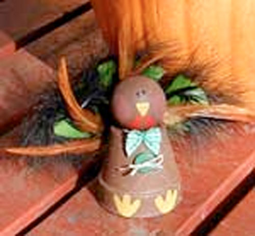 Clay Pot Turkey craft.