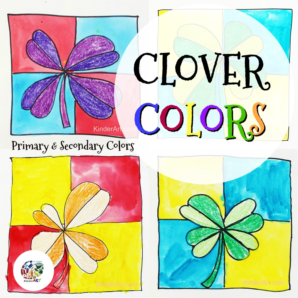 Colour mixing with clovers!