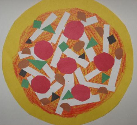 Shape Collage Pizzas