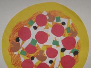Shape Collage Pizzas