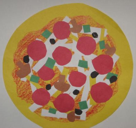 Shape Collage Pizza Art Lesson Plan For Elementary School