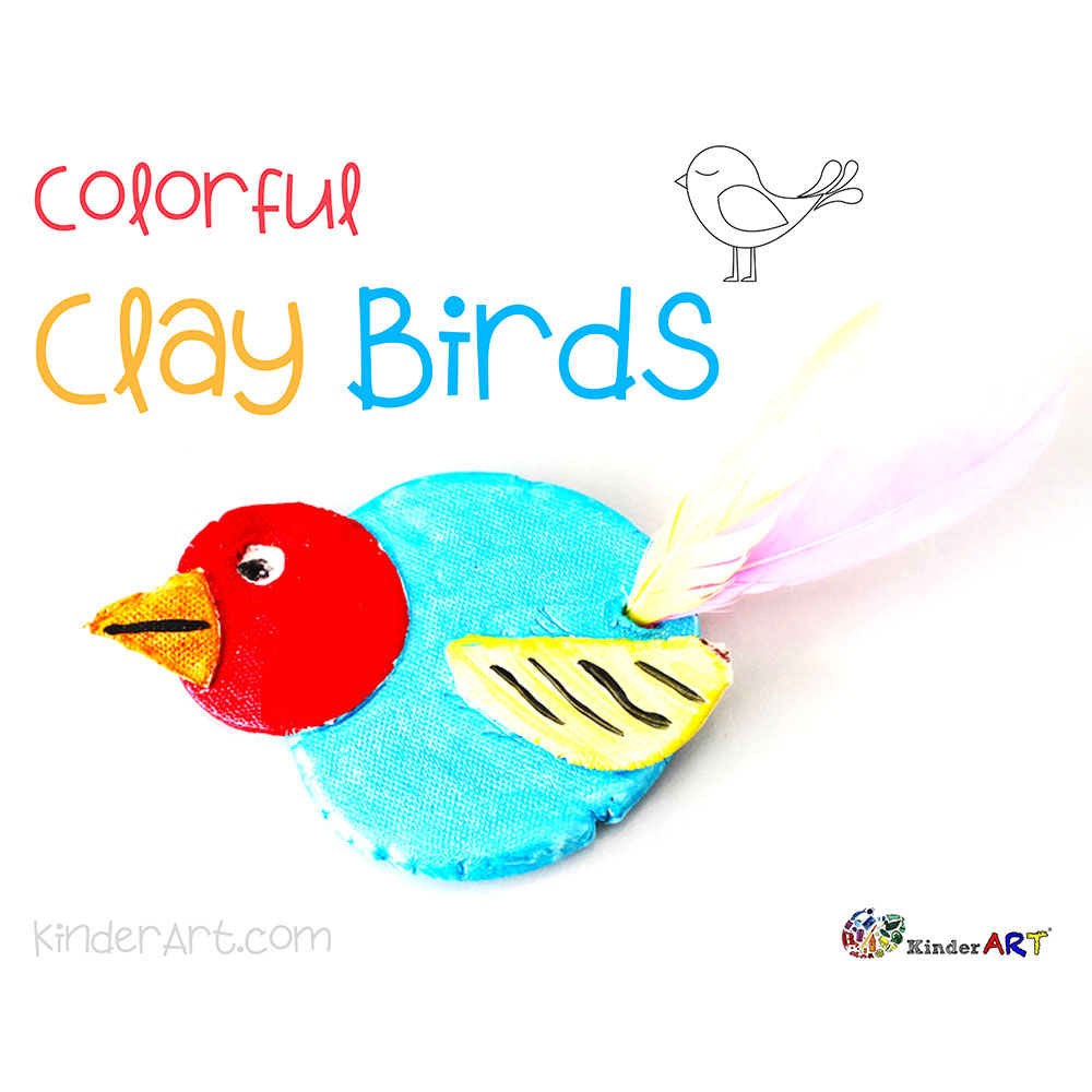 Colorful Clay Birds Art Lesson Plan