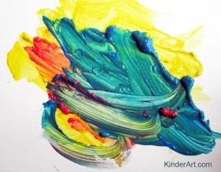 Mixing colors with KinderArt.com