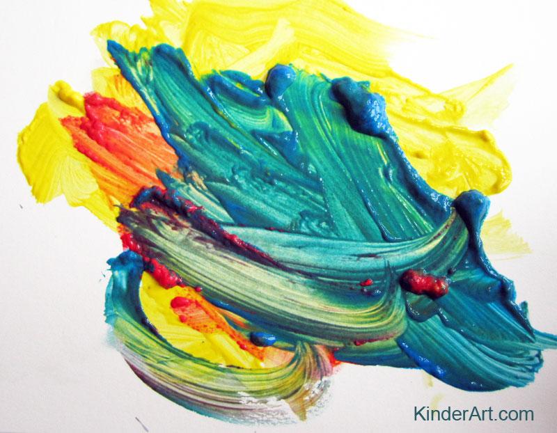 Mixing colors with KinderArt.com