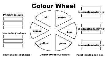 Color Wheel Coloring Page KinderArt