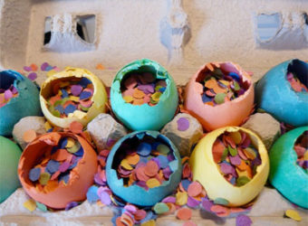 Make your own confetti eggs for Easter.