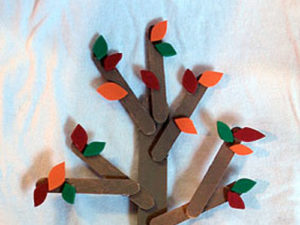 Craft Stick Trees Craft.