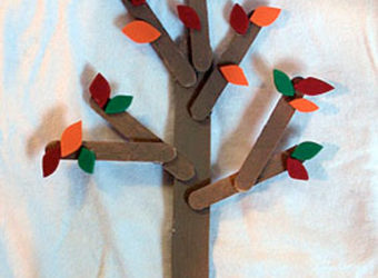 Craft Stick Trees Craft.