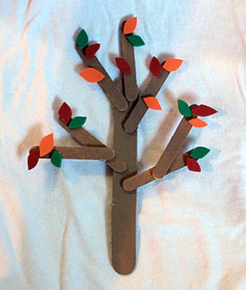 Craft Stick Fall Trees