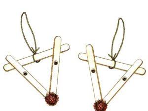 Craft stick reindeer craft for kids.