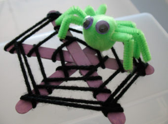 Make a Craft Stick Spiderweb