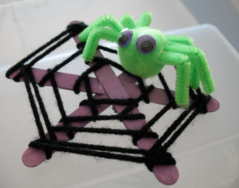 Make a Craft Stick Spiderweb