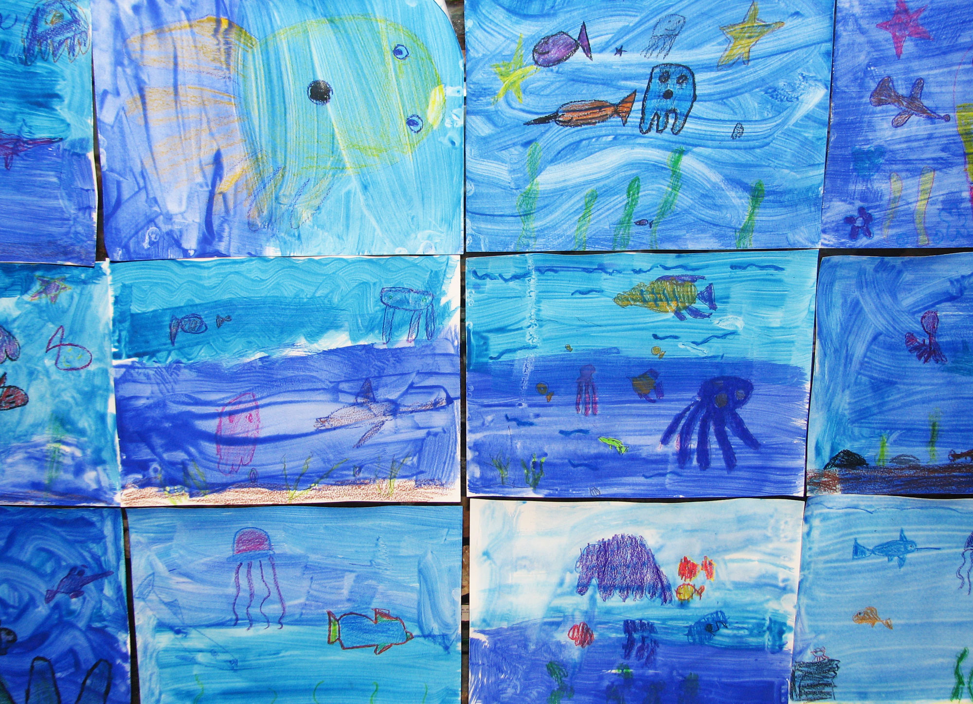 Crayon resist fish lesson plan for elementary students.