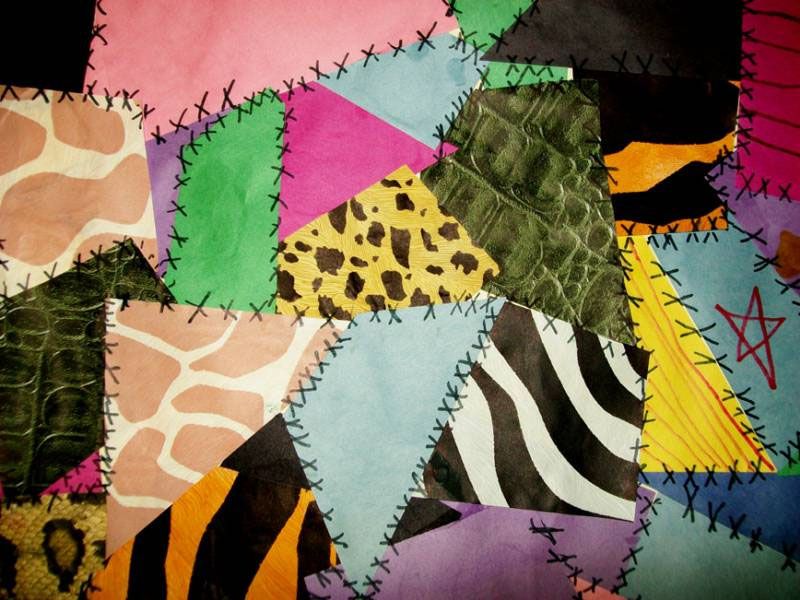 Make paper crazy quilts