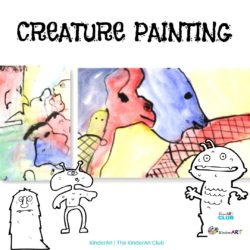 Creature Painting art lesson