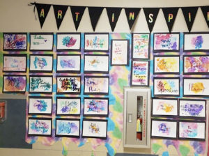 Creative Cursive Art Lesson Plan for Middle School