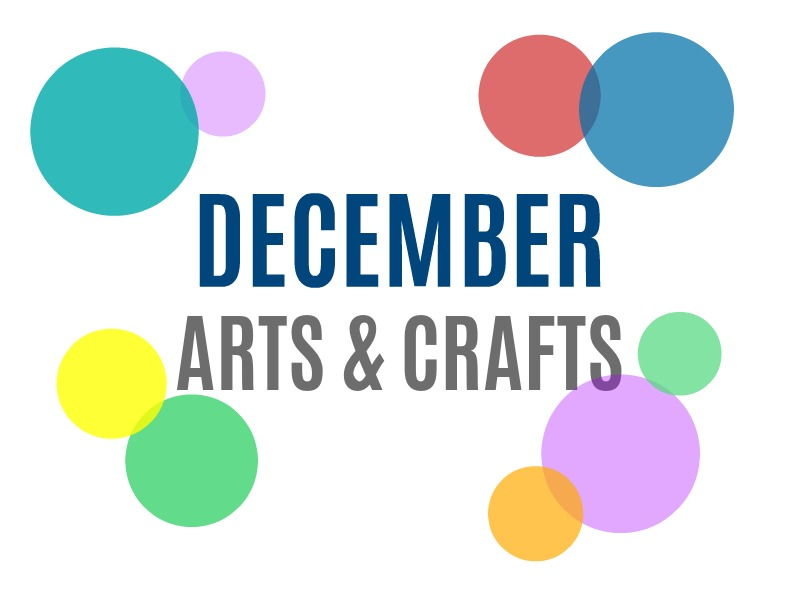 December Arts, Crafts and Activities for Kids from KinderArt.com