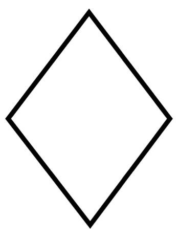 Diamond Coloring Page – KinderArt