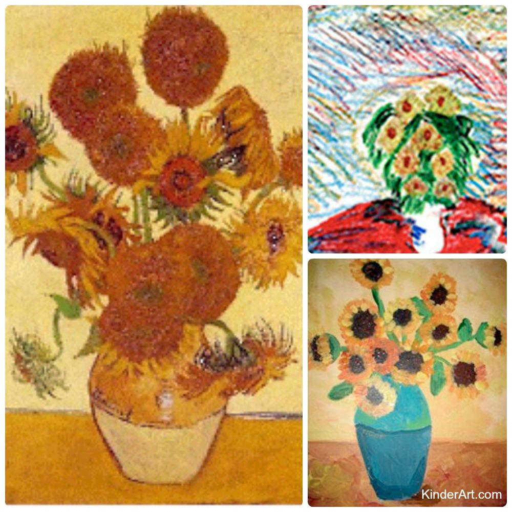 Van Gogh S Sunflowers Kinderart