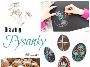Pysanky drawing lesson for children.