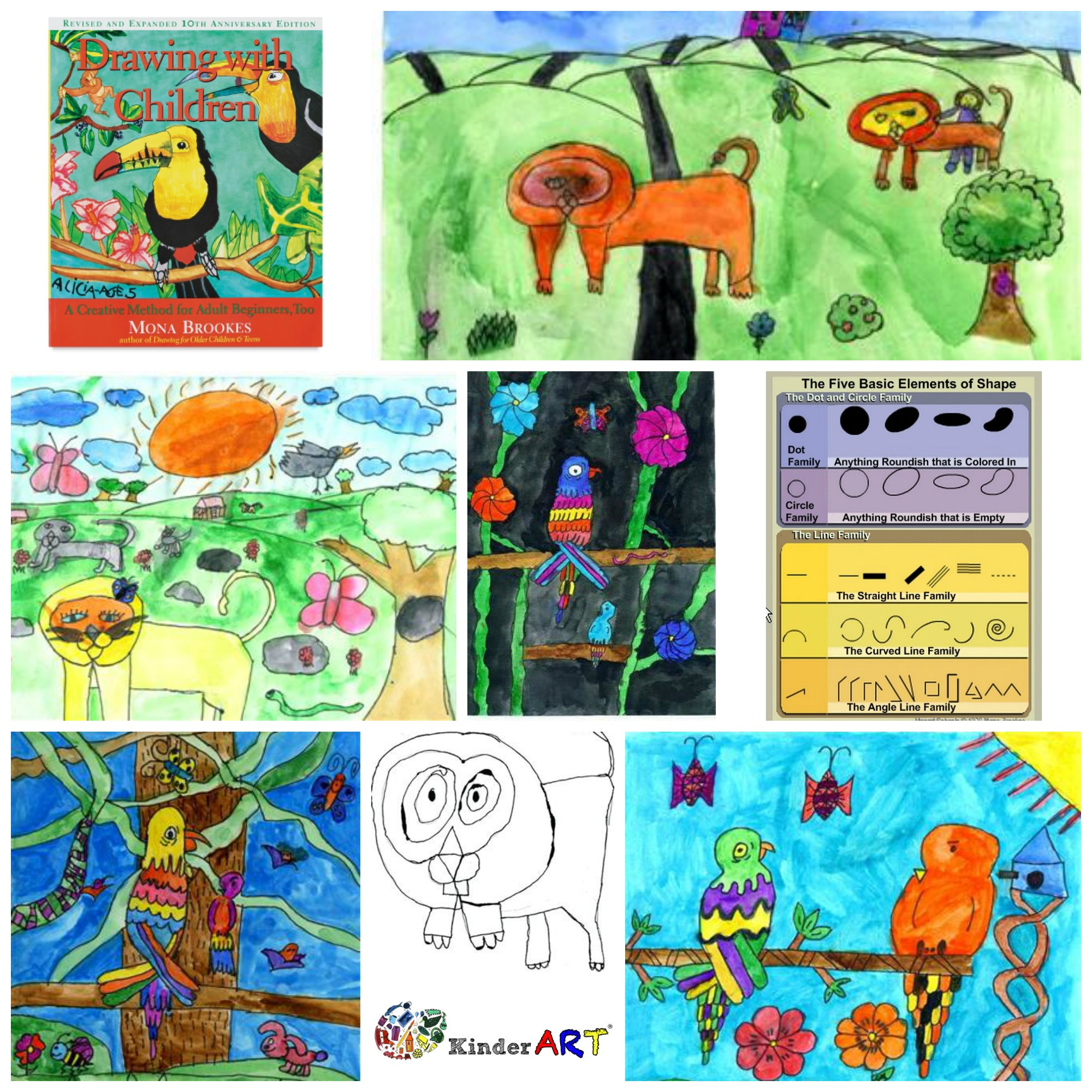 Drawing with Mona Brookes. KinderArt.com