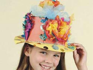 Make paper Easter bonnets.