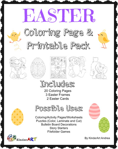 Easter Coloring Page Pack