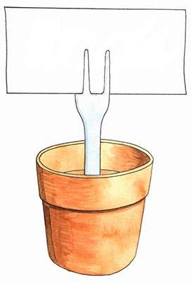 Flower Pot Recipe Holder
