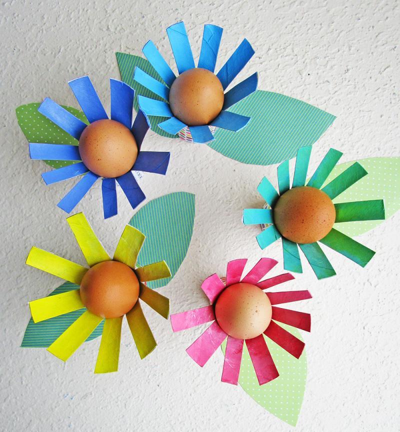 Egg Holder Craft for Kids and Adults. KinderArt.com.