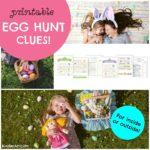 Create your own Easter Egg Scavenger Hunt. KinderArt.com.