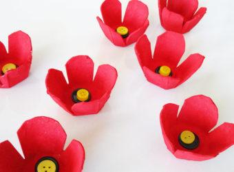 Egg Carton Poppy Art Lesson.