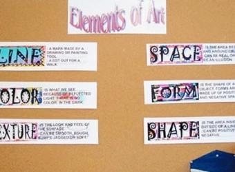Elements of Art bulletin board idea.