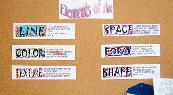 Elements of Art bulletin board idea.
