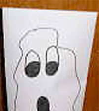 Envelope Ghost Puppet Craft for Kids from KinderArt.com