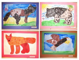 Eric Carle Collage with Animals