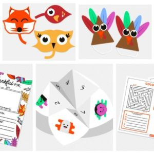 7 Fall Craft Printables for Kids