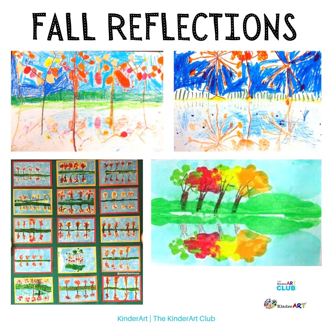 Fall Reflections art lesson