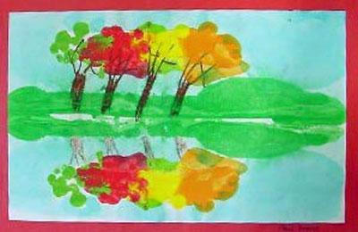 Fall Reflections Monoprint