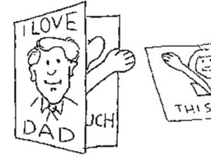Pop Up Card for Father's Day. KinderArt.com