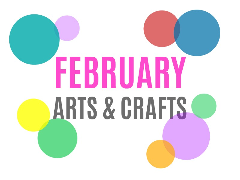 February Arts, Crafts and Activities for Kids from KinderArt.com