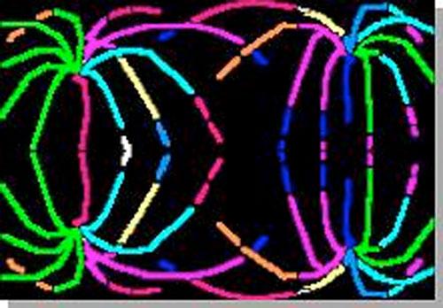 Scratch art fireworks art lesson from KinderArt.com.