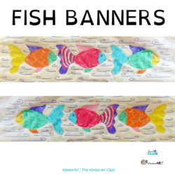 Fish Banners art lesson