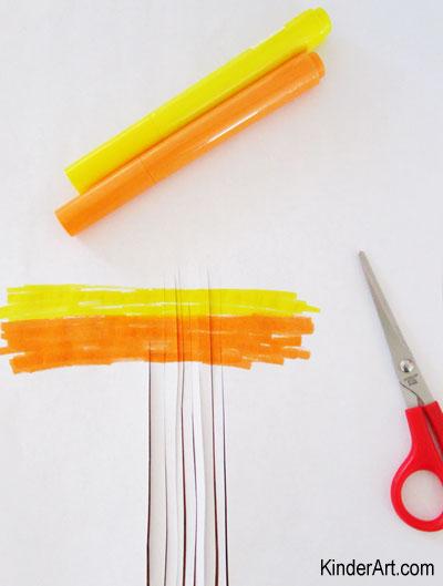 Make flameless sparklers for little ones. KinderArt.com