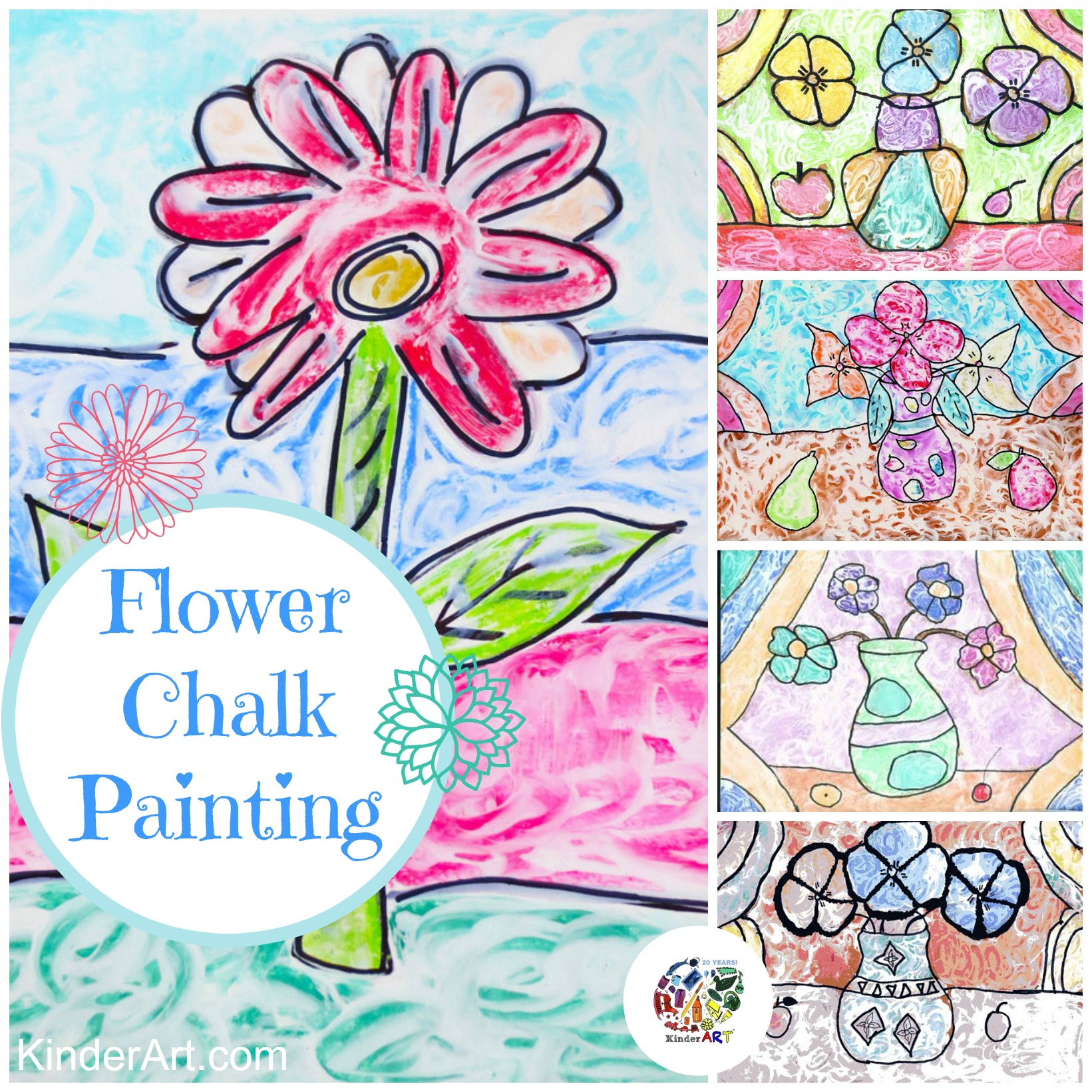 Wet Chalk Drawings Drawing Lessons For Kids Kinderart