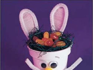 Flower Pot Bunny Craft from KinderArt.com