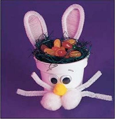 Flower Pot Bunny Craft from KinderArt.com