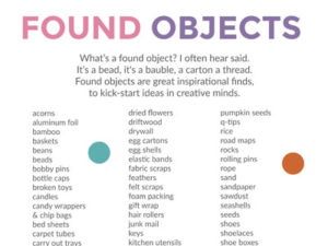Found objects poster. KinderArt.com
