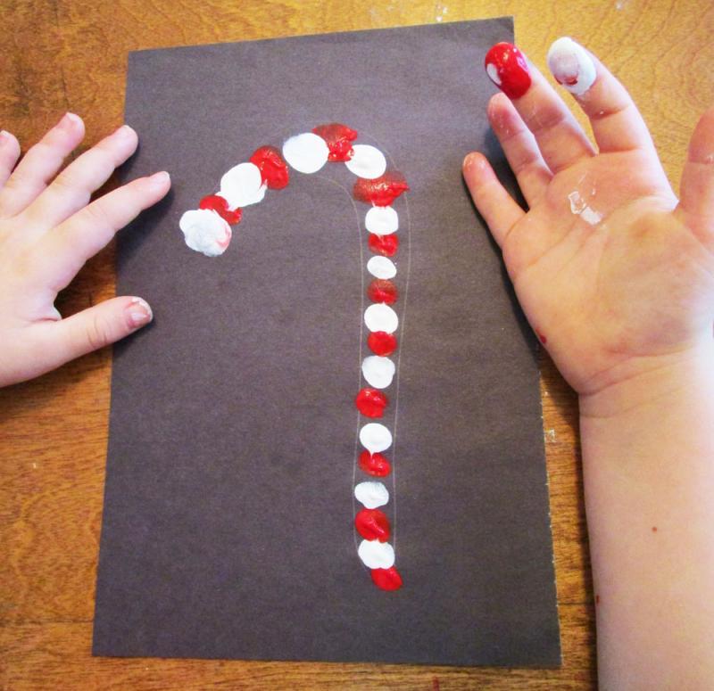 holiday fingerprint    finger painting crafts for kids