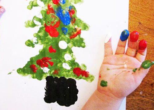 Holiday Fingerprint Finger Painting Crafts For Kids Kinderart