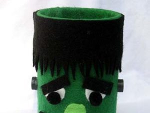 Tin Can Frankenstein Craft for Kids from KinderArt.com